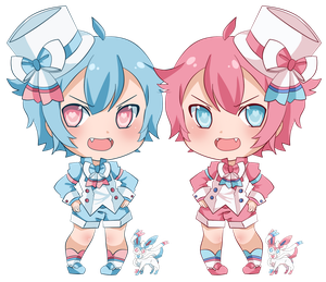 #700: Sylveon Twins by pixelpoe