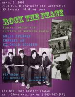 Rock the Peace Concert Flyer by Zink10