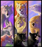 Animal Bookmarks by tarkheki