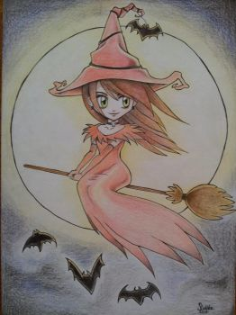 Witch colored by ArtificialApplepie