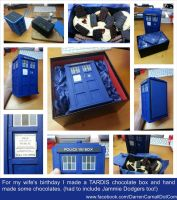Hand Made TARDIS Chocolate Box and Dr Who Chocs by DarrenCarnall