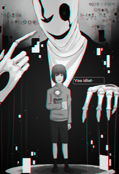 W.D Gaster and Chara by GAMERTHEF0X