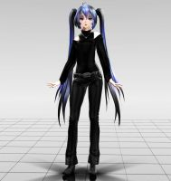 TDA Goth Miku MMD download by Reon046