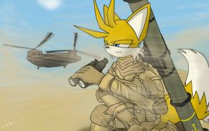 (Requested) Tails in Desert by oLEEDUEOLo