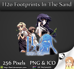 H2o Footprints In The Sand - Anime Folder Icon by lSiNl