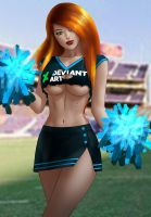 Kim Possible Cheering for DeviantArt by MaximilianDraco