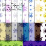 Victorian Wallpaper Pattern Set by RAJonesart
