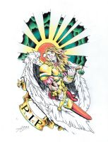Commish:: ArchAngel Mike by GMrDrew