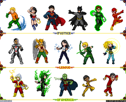 Justice League New 52 by 8bitattorney