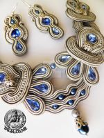 Soutache set in Grey by caricatalia