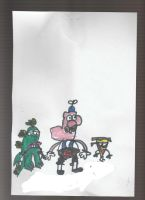 Uncle Grandpa, Mr. Gus, And Pizza Steve by TotallyTunedIn