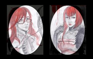 Madam Red and Grell by frassino