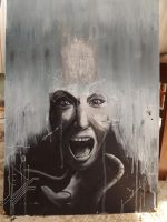 scream painting - part two - by oO-sam-Oo