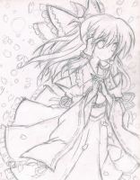 Touhou Fanart - Pencil by AbyssFantasies