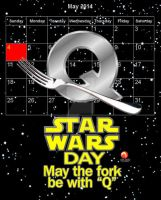 May the Fork be with  Q by medek1