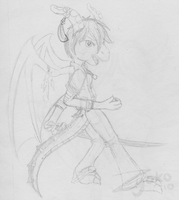 Sketch Book - Lei Fighting by Hawkein