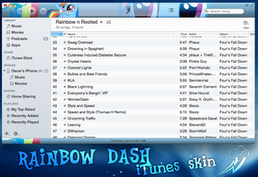 Rainbow dash skin for iTunes 11 by rhubarb-leaf