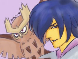 Fakner and Noctowl by Kimyri