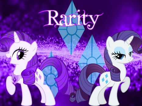 BG My Little Pony FIM Rarity by Moonofthedarknight