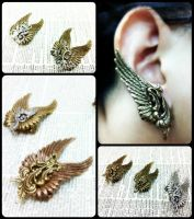 Wing Ear Cuffs 2 by sodacrush