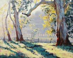 Australian Gum Trees Painting by artsaus