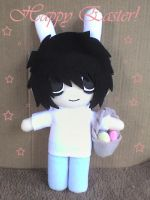 L in Easter Bunny Costume by VioletLunchell