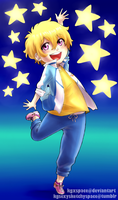 Cheerful Starry Nagisa by KGxspace