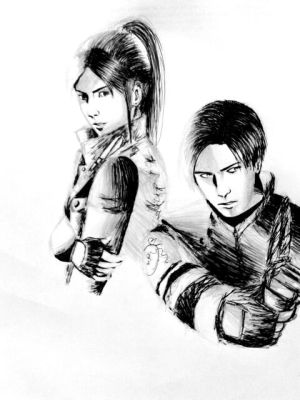 Leon kennedy and Claire Redfield by carljohnson1231