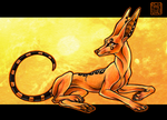 Golden Anubis by CanisAlbus