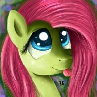 Fluttershy Portrait by Gusteaureeze