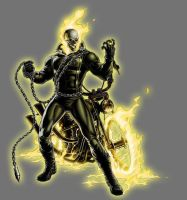 Yellow Lantern Ghost Rider by Lord-Lycan