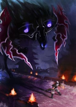Zed vs Nocturne by racoonwolf
