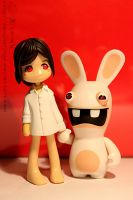 Pinky:Street + Raving Rabbids4 by kaminoringo