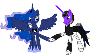 Request #18 ~ Luna + Shadow Blaze ~ by Radiant--Eclipse