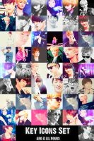 SHINee key icons by MilkYo