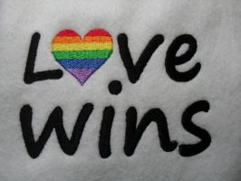 Love Wins Heart Embroidery by Whyte-Raven
