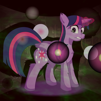 Twilight Sparkle attacks the darkness by Big-Mac-a-Brony
