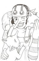 Usopp And Foxes by juugatsuhoshi