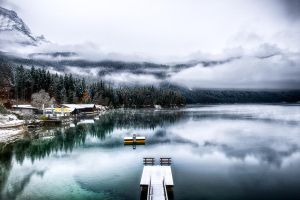 Eibsee, winter feel by alierturk