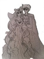 Sailor Moon Neo Queen Serenity and King Endimion by IrinaSelena