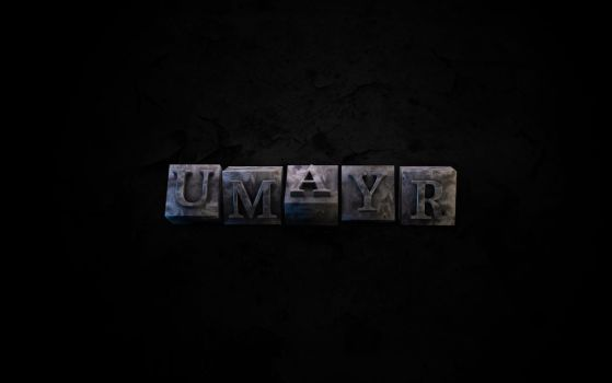Metallic Typo by umayrr