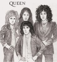 QUEEN in the 70s by Loony-Lucy