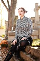Victorian stripes blouse by sombrefeline