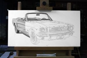 1965 Ford Mustang WIP 4 by Daniel-Storm