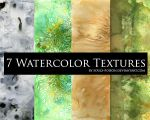 7 Watercolor Textures by soulspoison