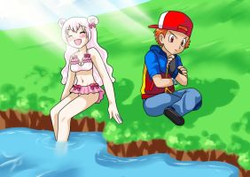By the lake David and Blanche by Pilot231