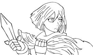 Erza short hair by kyrios375