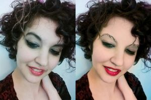 Dresden eyebrows - before after by B-D-I
