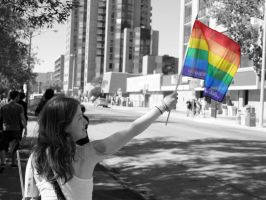 beauty at pride B+W by I-LOveLife