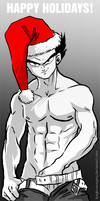 Happy Holidays from Vegeta! by longlovevegeta